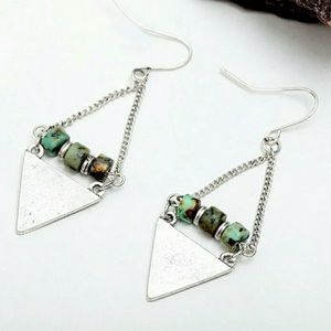 Boho Triangle Dangle Earrings